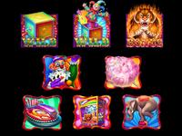 Set of slot symbols on Circus Theme