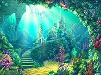 """Main Illustration for Online slot game """"Mermaid"""""""