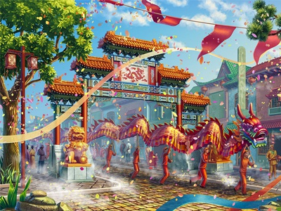 Dragon Festival in China! dragon festival chinese china background design background image background art background design digital art casino slot machines illustration slot design slot machine gambling graphic design game design game art