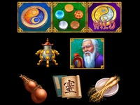 Slot symbols on Chinese Alchemy Theme