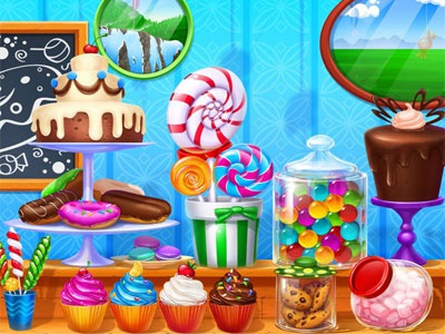 Slot game Background - The Sweets