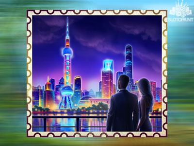 Night view of Shanghai as the online slot symbol