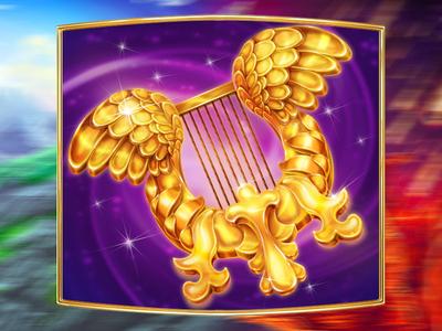 Angel Harp as the online slot symbol