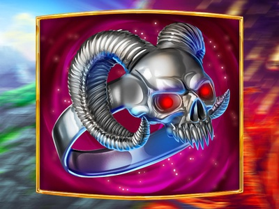 A Ring with a demonic skull - slot symbol