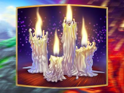 Candles as a slot symbol