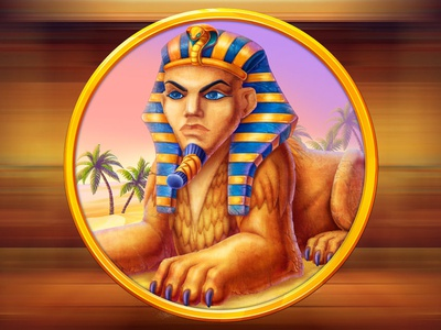 A Sphinx as a slot game symbol