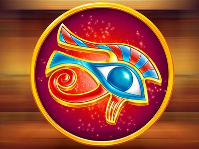 """Eye of Horus"" casino slot symbol"