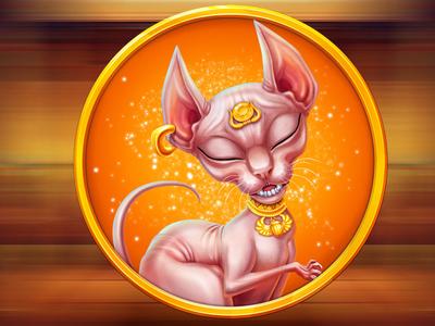 Cat of Ancient Egypt as a slot symbol