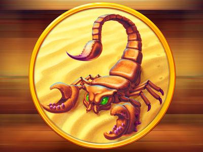 Scorpion slot symbol