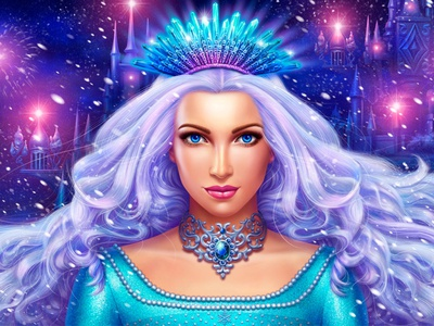 Splash screen of the Snow Queen Themed slot game