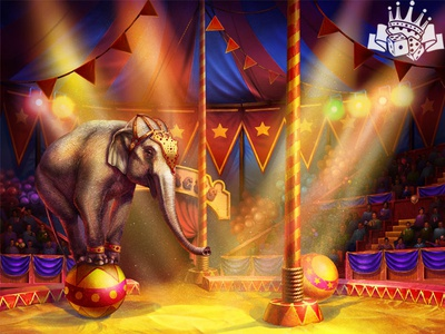 The Circus Show as a slot game Background