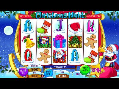 UI Design for Christmas slot game christmas slot christmas theme christmas tree christmas casino design casino art slot game slot art casino slot gamereels reels graphic design gambling game art game design