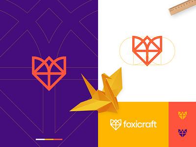 Foxicraft - Origami Animal Logo Design 🦊📃 animal logo identity paper symbol brand identity monogram origami fox logo fox logo logo design branding