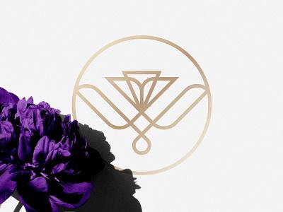 Worthy Of You Flowers - Logo Design 🌷 emblem symbol identity mark monogram w letter badges line art branding logo floral flower