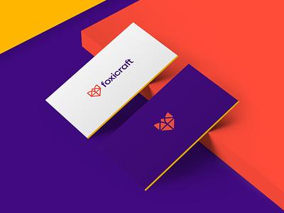Foxicraft - Logo Identity Design 🦊📃 symbol smart logo monogram branding fox visual identity logo designer logo design logo minimalist minimal animal logo business card brand identity