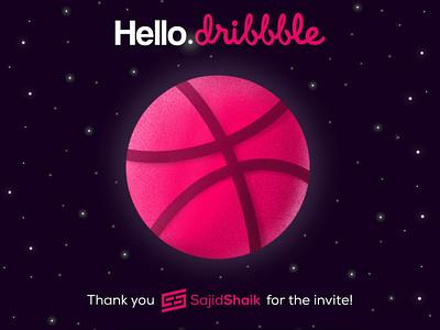Dribble Thanks! debut thanks dribble-invite procreate illustration