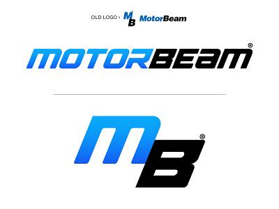 MotorBeam - Logo Redesign identity design brand automotive logo design branding illustrator redesigning rebranding logo