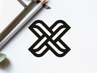 X LogoMark ✍️ lineal logo creative minimal logo clean logo illustrator abstract x modern minimal clean bold monogram exploration lettermark logo design logo