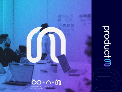Product^n  - Logo Concept v2 n letter smart logo identity designer logo designer monogram lettermark logo letter n firm design branding brand