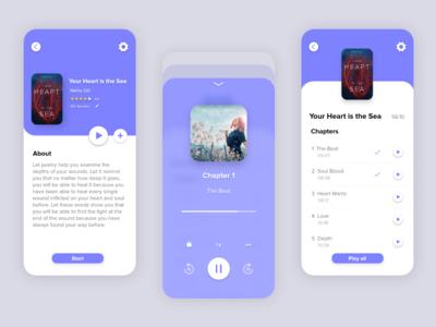 Audio book concept UI
