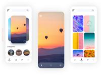Wallpaper app UI