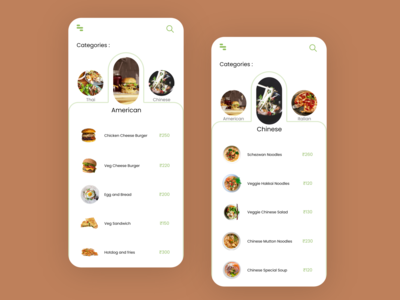 Restaurant/Cuisine Food App UI Design