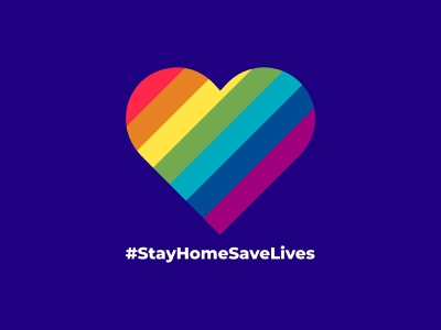 #StayHomeSaveLives logo coronavirus illustration
