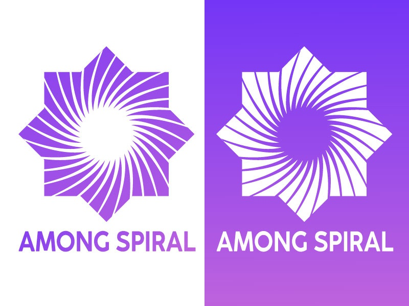 Among Spiral Logo vector design illustration logodesign logotype logo