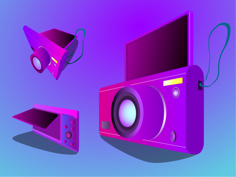 Camera Gradient Purple gradient color affinitydesigner art vector artist ilustrator illustration