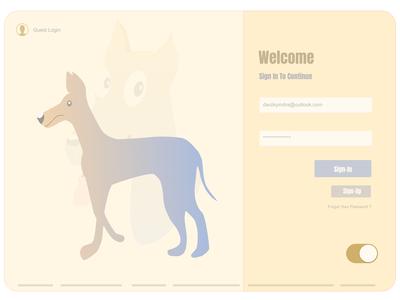Login Page Whoof App Design