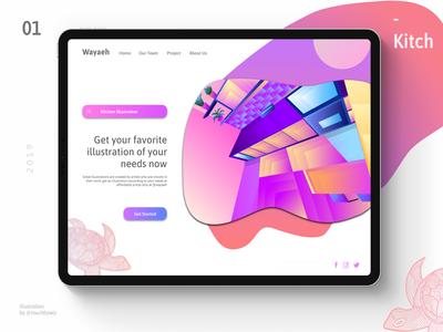 Kitch Illustration User Interface
