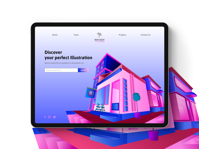Building Illustration rent UI