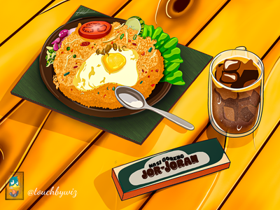 Fried rice (illustration) / Nasi Goreng food truck nasigoreng indonesia designer icetea drinking eat food app foodie dailyfood food and drink friedrice indonesia foody foodillustration food adobe illustrator vector artist ilustrator illustration