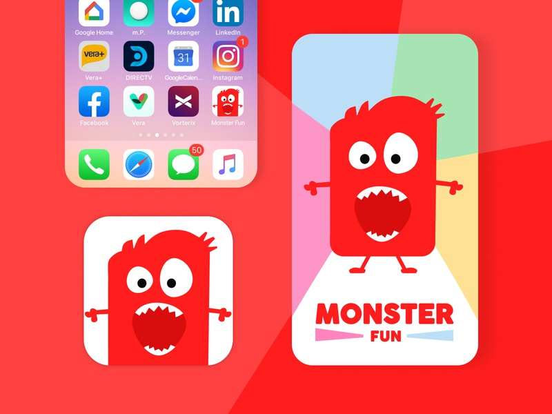 Daily UI :: 005 - App Icon ilustration monster kids app icon dailyui 005 challenge dailyui