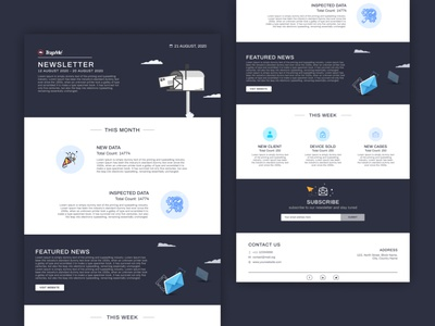 Newsletter figmadesign figma newsletter graphics newsletter template newsletter design uidesign uiux ui email marketing email design email template email newsletter