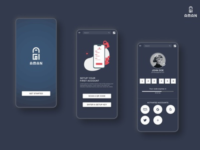 Two Factor Authentication mobile ui design mobile ui mobile app qrcode verfication authenticator factor authentication authentication two factor authentication ui design splash screen application login page landing page uiux ux ui figmadesign figma