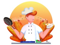 cheff make breakfast