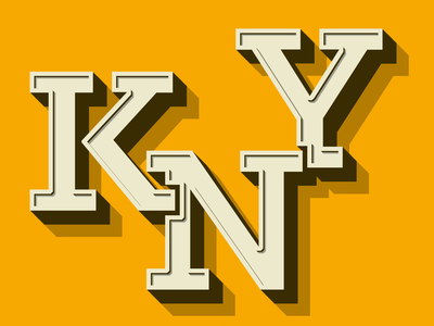 Kny 3d text typography
