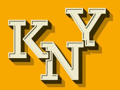 Kny 3d text typography