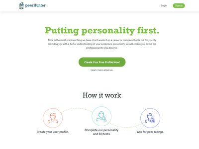 Clean job finding website. roboto rockwell green minimal design job clean