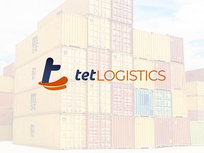 TET logistics Monogram Logo logistics typography vector logo branding monogram letter mark monogram logo
