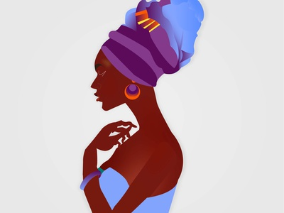 African Woman Illustration design vector illustration picture african