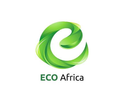 ECO Africa Logo design icon eco africa vector branding logo