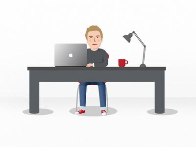 ColourFreak Web Illustration colourfreak office desk laptop illustration web designer