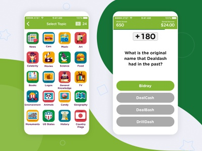 Total Trivia | iOS Trivia App points gamification select topic millionaires quiz app ios categories quiz trivia