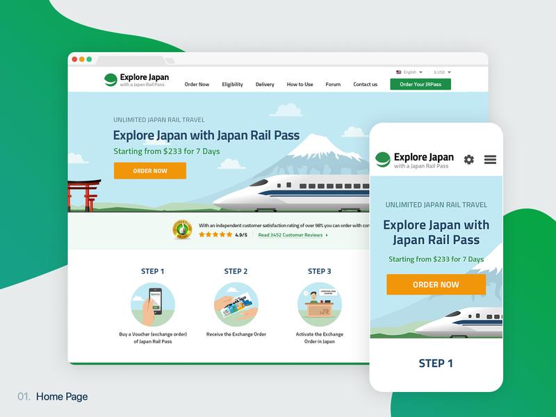Japan Rail Pass Website ui japanese tickets train travel product website jrpass japan