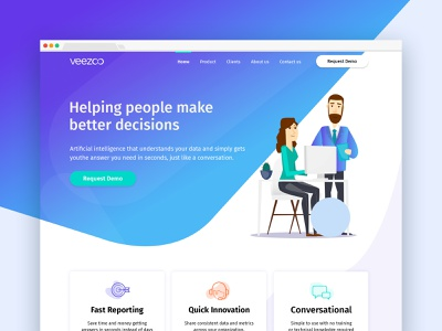 Veezoo | Artificial Intelligence (AI) Website Design product background design illustration web design website ai artificialintelligence