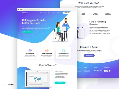 Veezoo | Artificial Intelligence (AI) Website Design artificialintelligence ai website web design illustration background design product