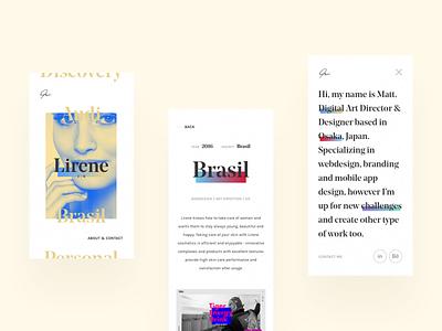 Portfolio - mobile version responsive layout ui web mobile portfolio flat design