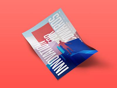 Innovation for cowards pastel typography illustration design art poster
